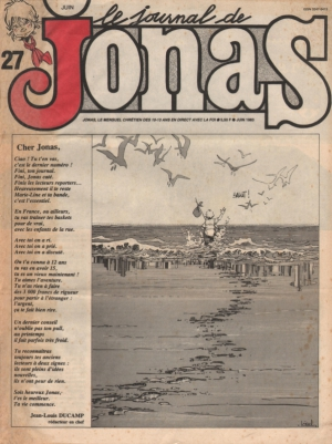 LE JOURNAL DE JONAS N°27