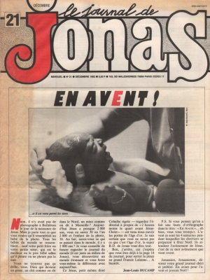 LE JOURNAL DE JONAS N°21