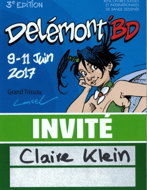 FESTIVAL DE DELEMONT 2017 BADGE INVITE